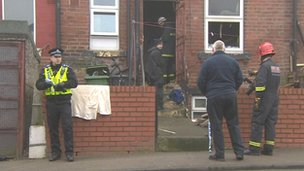 Scene of house fire in Harehills