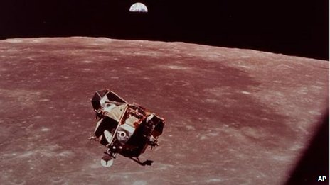 Apollo 11 leaves the moon in 1969