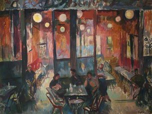 Cafe Interior by Evelyn Gibbs