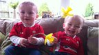 And it is never too late for a St David's Day photo. Tracy Francis from Rhiwbina, Cardiff, sent in this photo of twin boys Freddie and Alfie, who at 18 months, seemed to be enjoying the national day celebrations.