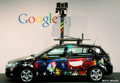 A Google streetview car