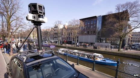 A Google Streetview camera