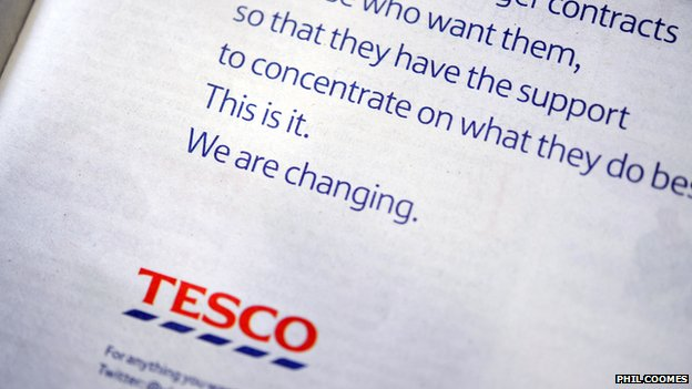 Tesco apology ad