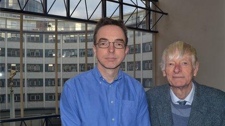 Jim and Bill Tucker at Television Centre