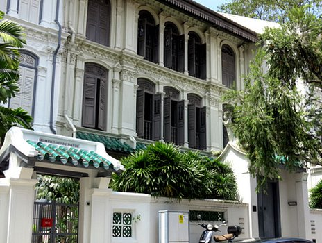Refurbished Peranakan house in Singapore's Emerald Hill