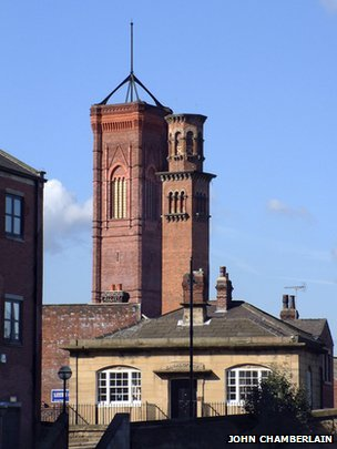 Two of the towers in Holbeck