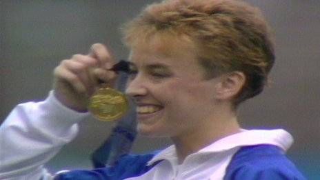 Dundee's Liz McColgan won gold in the 10,000 metres