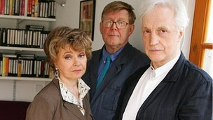 Edward Petherbridge with Prunella Scales and Alan Bennett