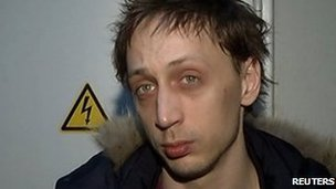 Pavel Dmitrichenko, after his arrest and alleged confession for the acid attack on Bolshoi artistic director Sergei Filin