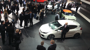 Kia's stand at Geneva