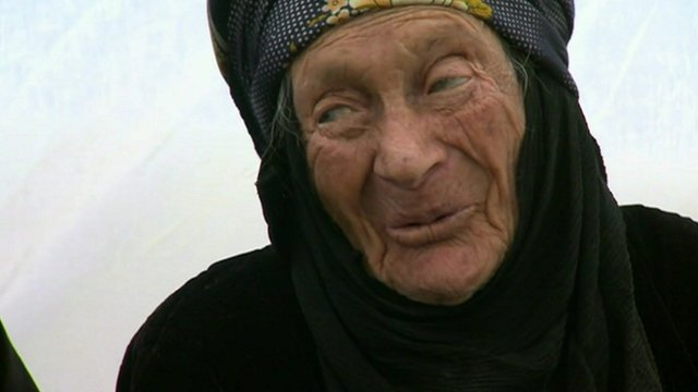 Syrian refugee, 105 years old