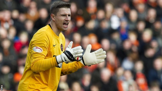 Dundee United goalkeeper Radoslaw Cierzniak
