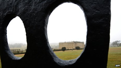 Sculpture by British artist William Turnbull at Chatsworth House