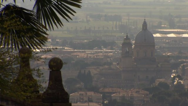 Hilltop view of Assisi