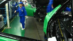 Production line at BYD