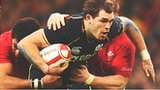 Scotland's Sean Lamont is tackled by two Welshmen in last year's Six Nations clash in Cardiff