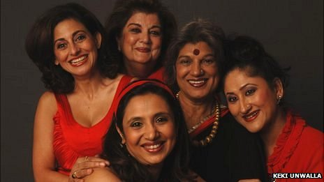 (clockwise from front) Sonali Sachdev, Avantika Akerkar, Mahabanoo Mody Kotwal, Dolly Thakore and Jayati Bhatia