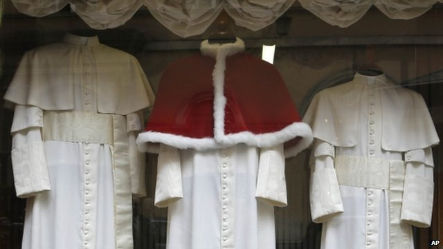 Robes in shop window