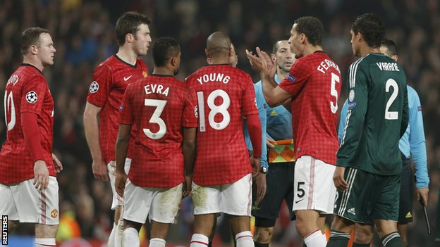 Rio Ferdinand reacts at the end of Manchester United&#039;s loss to Real Madrid