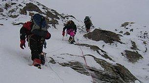 Climbers in Pakistan