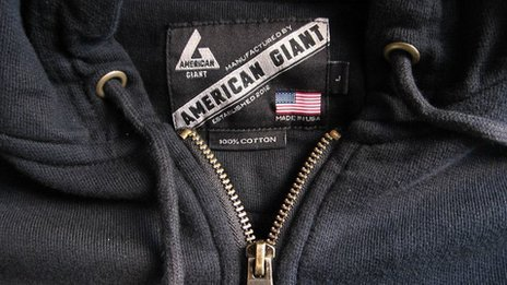American Giant label