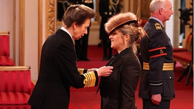 Princess Royal and Tracey Emin