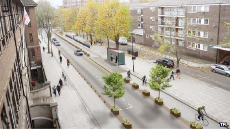 Visualisation of Royal College Street, Camden