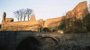 The castle in Barnard Castle