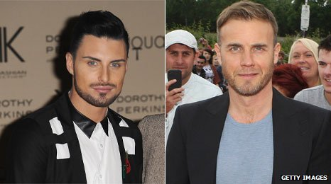 Rylan Clark and Gary Barlow