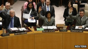The UN Security council votes on the North Korea resolution
