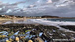 Gansey Beach courtesy Manxscenes.com