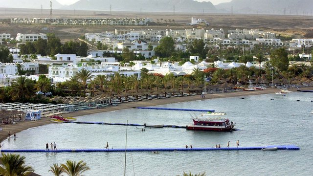 General view showing the Egyptian Red Sea resort of Sharm el-Sheik