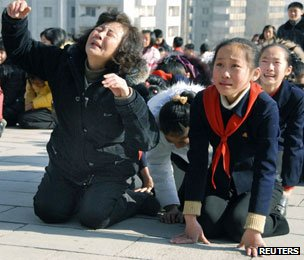 Mourning in Pyongyang, Dec 2011