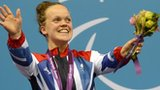 Ellie Simmonds after winning the Women's 200m IM Final SM6 at the London 2012 Paralympic Games
