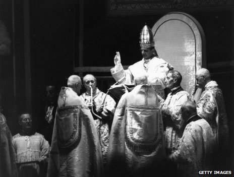 Pope Paul VI coronation in 1963
