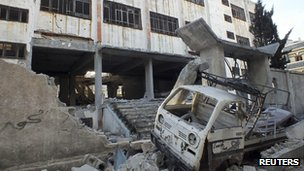 Damage in Homs. 7 March 2013