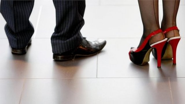 Businessman and woman