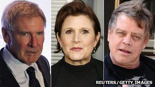 Harrison Ford, Carrie Fisher and Mark Hamill as they are today