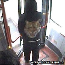 CCTV image from the bus
