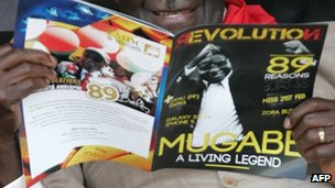A magazine celebrating Robert Mugabe's 89th birthday