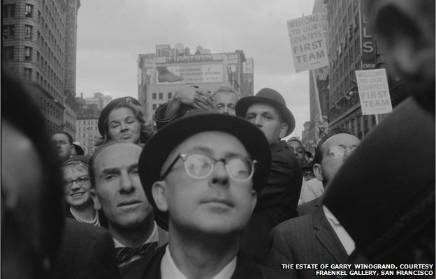 Garry Winogrand, Richard Nixon Campaign Rally, New York, 1960; posthumous digital reproduction from original negative; Garry Winogrand Archive, Center for Creative Photography, University of Arizona