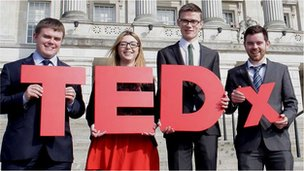 Stormont interns with TEDx sign