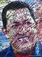 A poster of late Venezuelan President Hugo Chavez