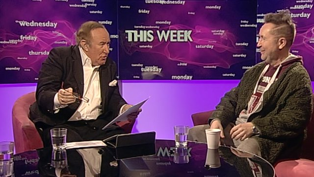 Andrew Neil and Nigel Kennedy