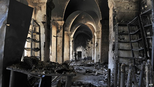 Aleppo's Umayyad Mosque destroyed during fighting