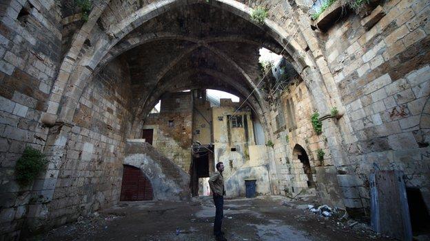 Historian Dan Snow in Tartus, Syria