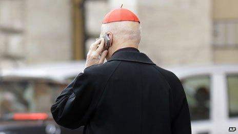 Cardinal on phone