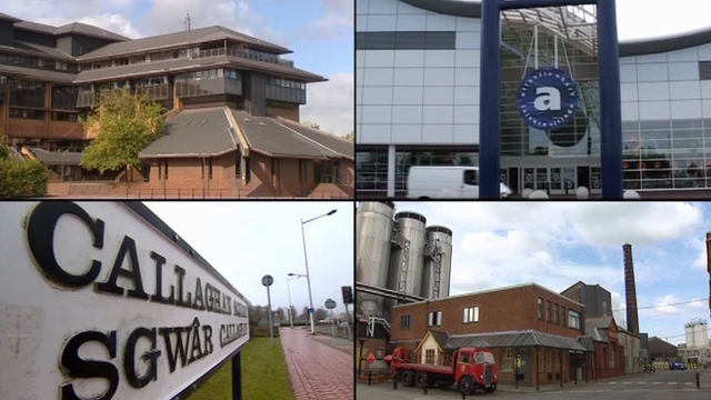 A montage of sites in Cardiff