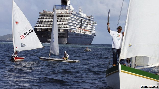 The 2006 baton off the British Virgin Islands