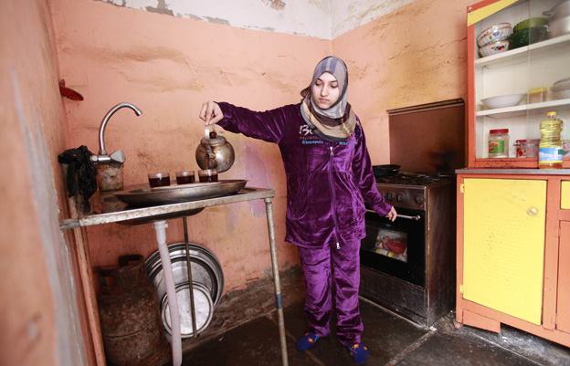 Marwa in her kitchen